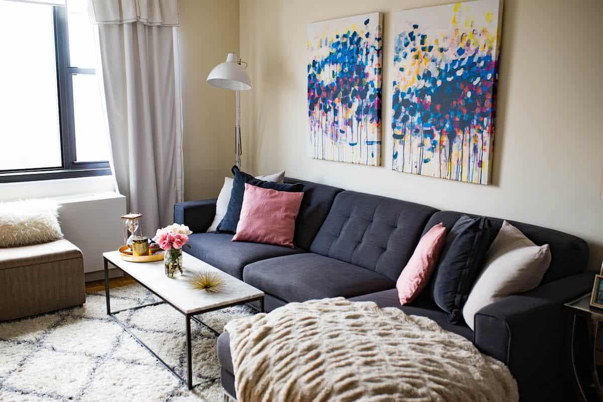Latest White Pop Ceiling Design Sofa Set Living Room ...