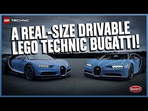 Video del increíble Bugatti Chiron hecho de LEGO