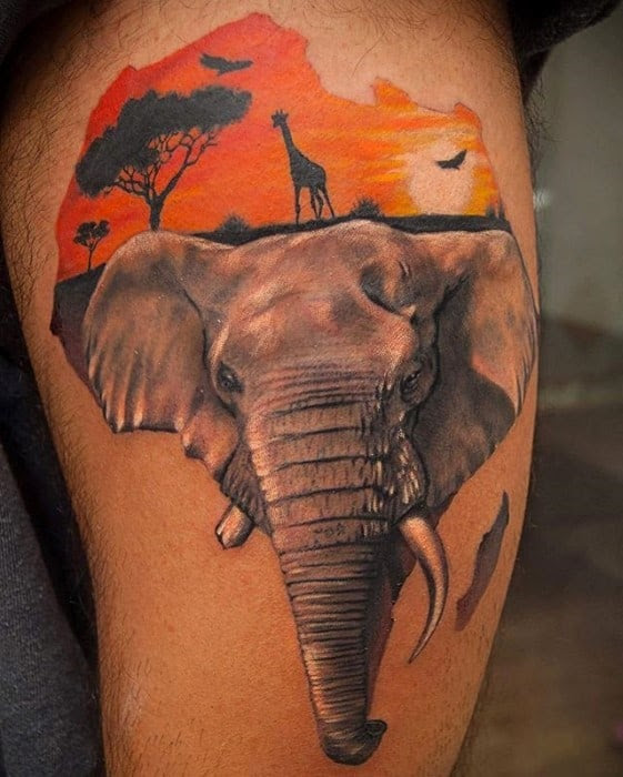 60 Africa Tattoo Designs For Men Continent Ink Ideas