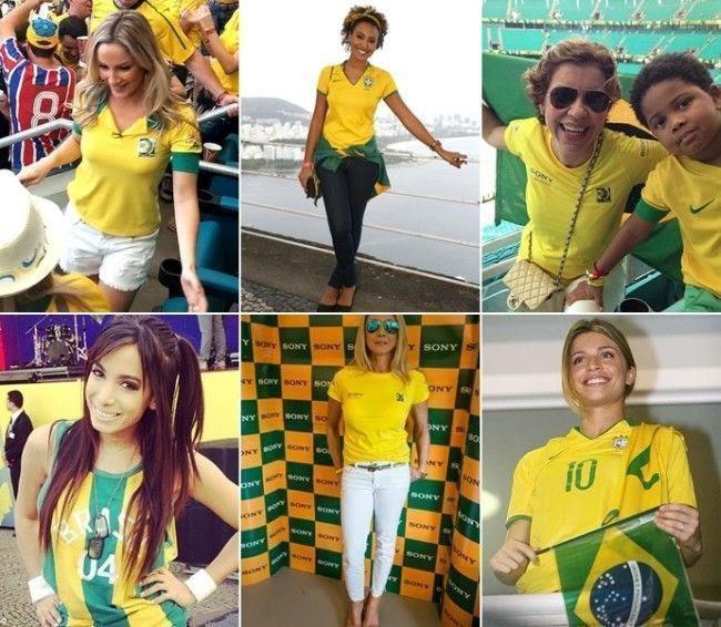 Resultado de imagem para look para jogos de futebol brasil