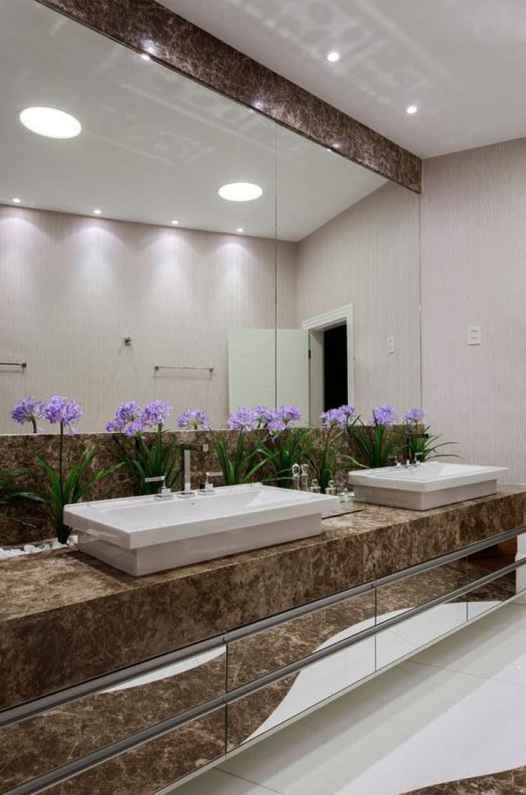 Como decorar o banheiro com jardim de inverno