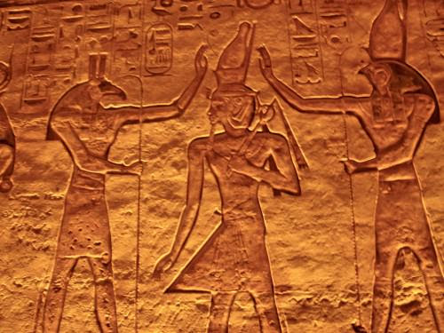 Set and Horus Blessing Ramesses II