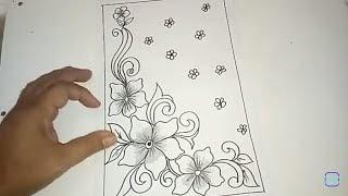 Sketsa Batik Bunga Yang Mudah Digambar Bagikan Contoh