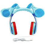 eKids Blue's Clues and You Headphones for Kids, Over The Ear Headphones for School, Home or Travel, Volume Limited Headphones Includes Share Port