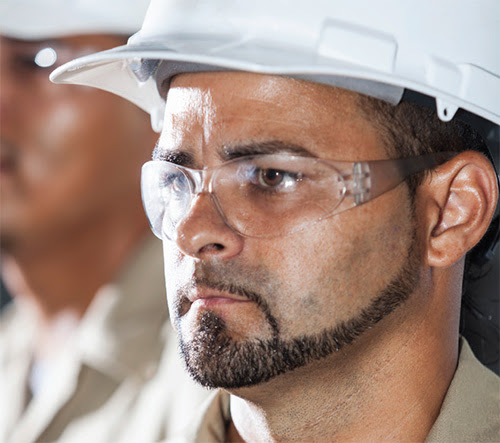 Wearing eye protection can prevent 90 percent of work-related eye injuries, experts suggest