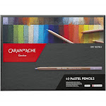 Caran D'Ache Pastel Pencil Set - Assortment of 40 Dry Pastel Pencils