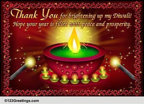 Bright Diwali Thanks! Free Thank You eCards, Greeting