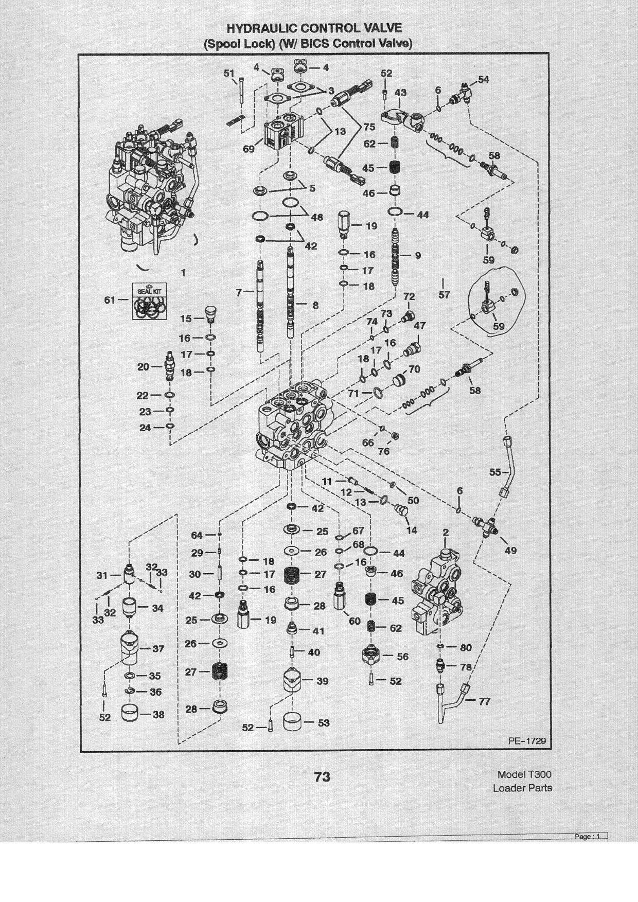 Bobcat 863 Hydraulic Control Valve Diagram