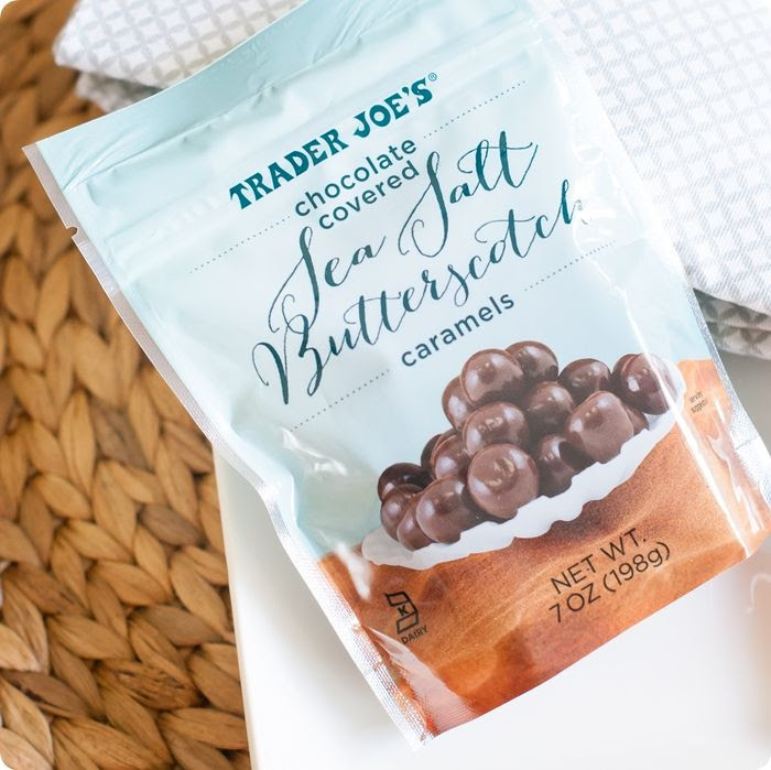 Trader Joe's Chocolate-Covered Sea Salt Butterscotch Caramels Review! #traderjoes