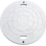 """Lid, Hayward SP1075/SP1076/SP1077 Skimmer, 8-3/4""""od, White"""