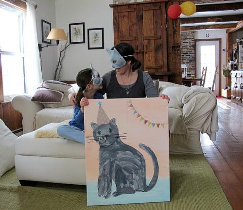 cat portrait collaboration