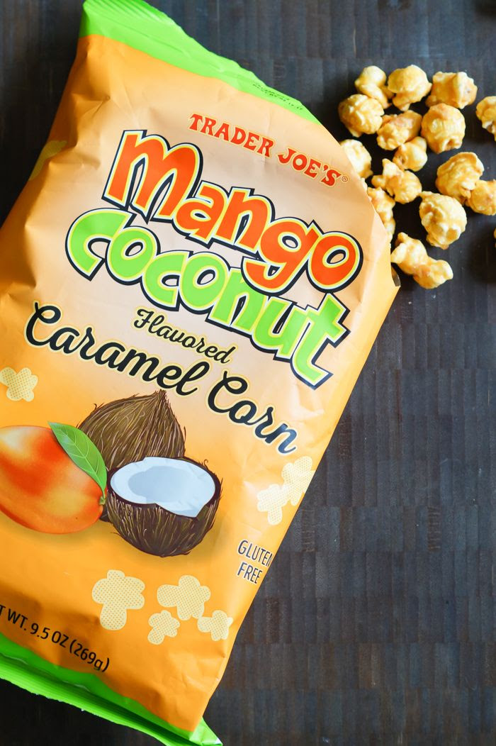 trader joe's mango coconut caramel corn review : part of a weekly #traderjoes review series