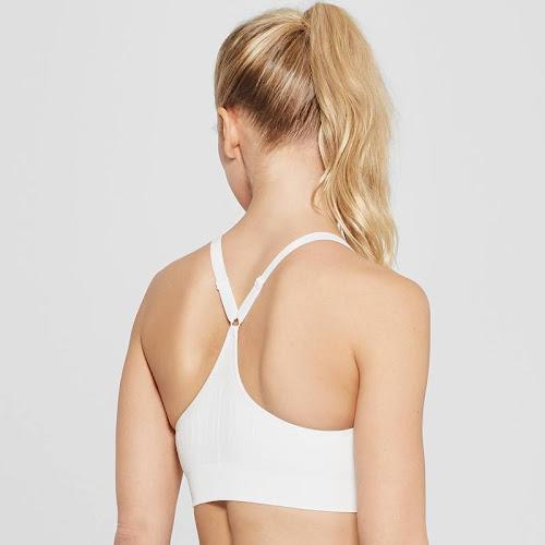 Women's Seamless Cami Sports Bra - C9 Champion White M, Size: Medium
