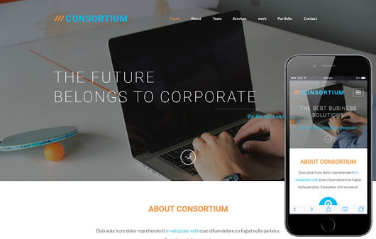 Consortium a Corporate Business Flat Bootstrap Responsive Web Template