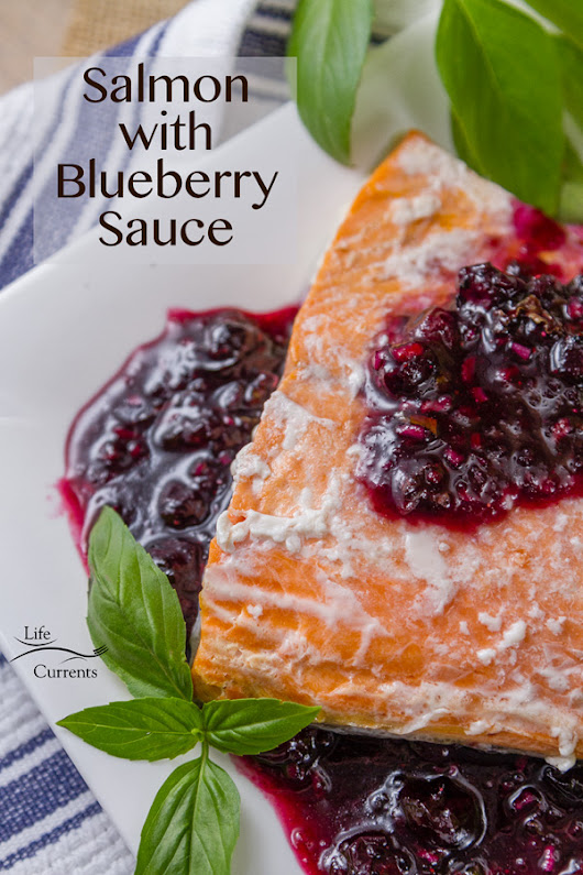 Salmon with Blueberry Sauce - Life Currents