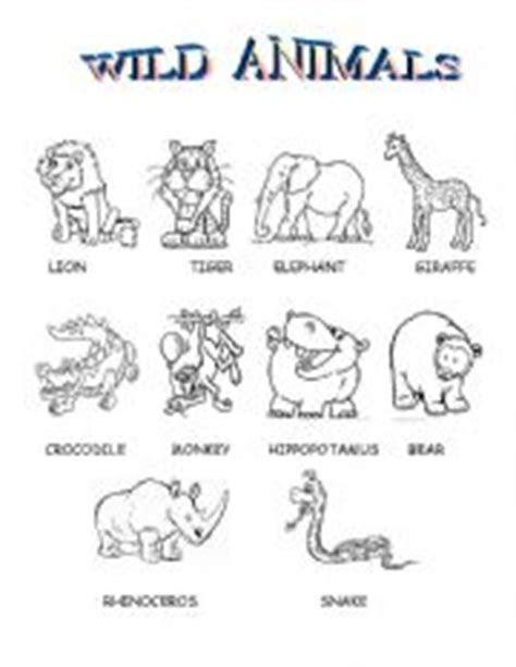 english teaching worksheets wild animals