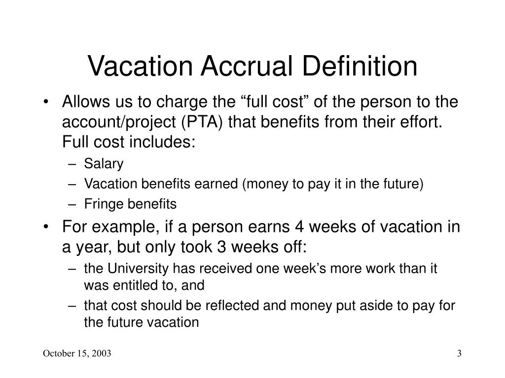 PPT - Vacation and Leave Accrual -- Agenda PowerPoint ...