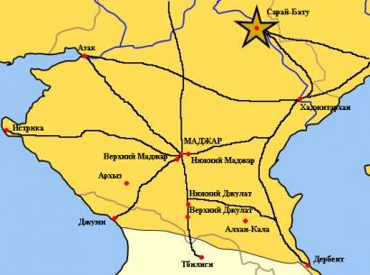 Madzsar városa a Kaukázus előterében