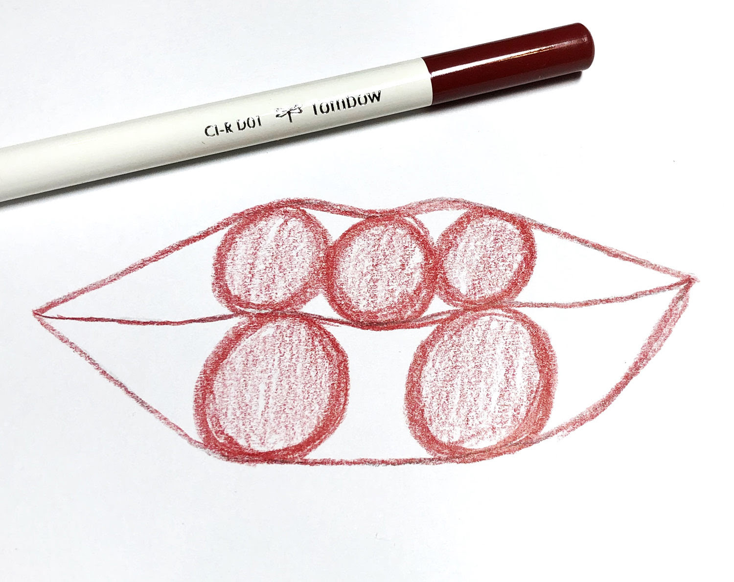 How To Draw Lips Using Irojiten Colored Pencils Tombow Usa Blog