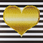 "Diamond Art Kit 8x8"" Beginner Heart"