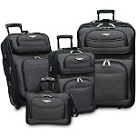 Traveler's Choice Travel Select Amsterdam 4-Piece Expandable Luggage Set, Gray/Black by Luggage Pros