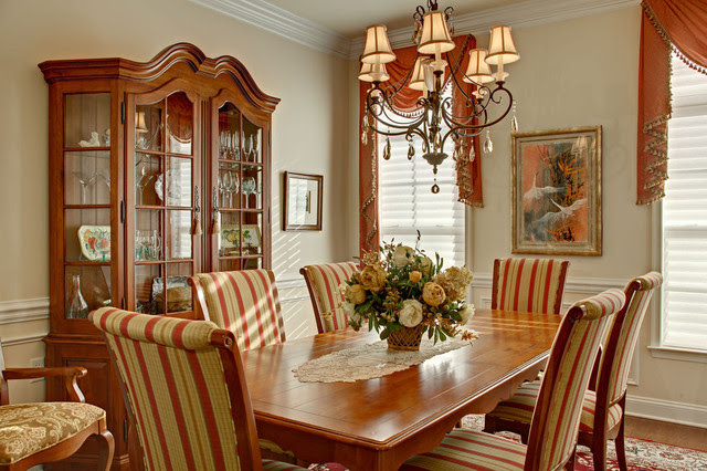 French Dining Room with French country decor - Traditional ...