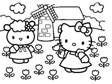 gambar sketsa boneka  kitty gambar mania