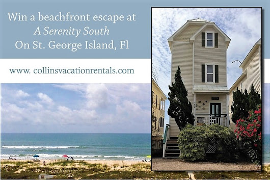 WIN a FREE BEACHFRONT vacation to St. George Island, Florida from Collins Vacation Rentals!