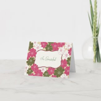Elegant Floral Thank You Card card