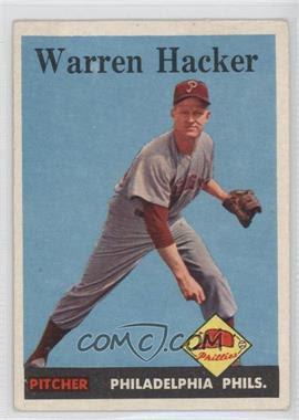 1958 Topps #251 - Warren Hacker [GoodtoVG‑EX] - Courtesy of COMC.com