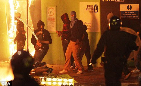 Trouble flares in Tottenham, north London following the dead of Mark Duggan 29, at the start of four nights of rioting