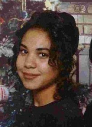 Looking back: Sara pictured as a teenager