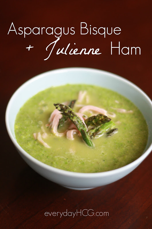 Asparagus Bisque with Julienne Ham (P2, Paleo, Low Carb,) - Everyday HCG