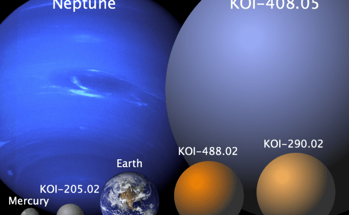 The four new, but as yet unconfirmed, exoplanets. Image: University of British Columbia