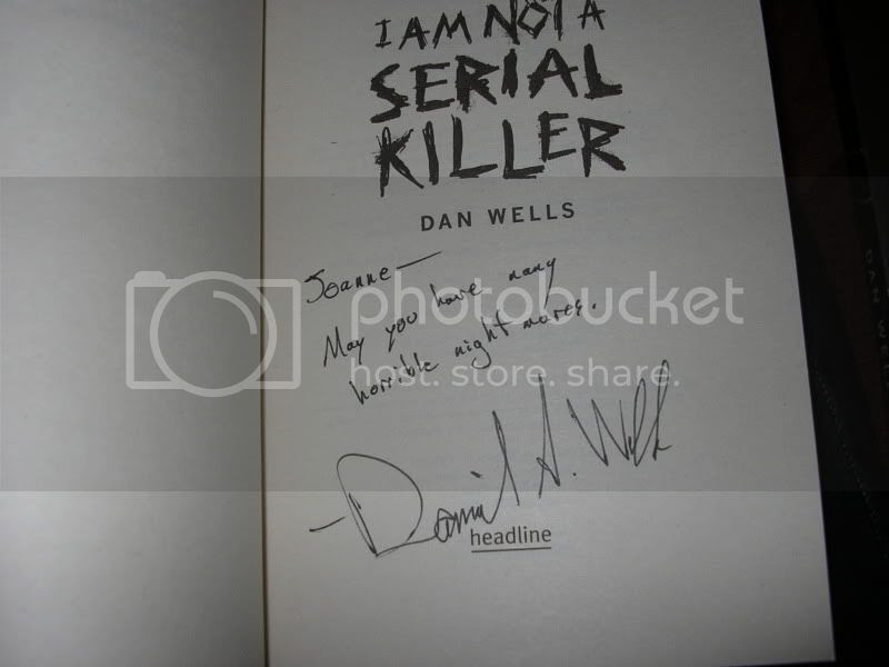 signed I am Not a Serial Killer by Dan Wells
