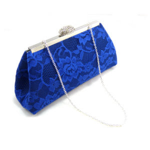 Navy, Royal Blue and Steel Grey Evening Clutch