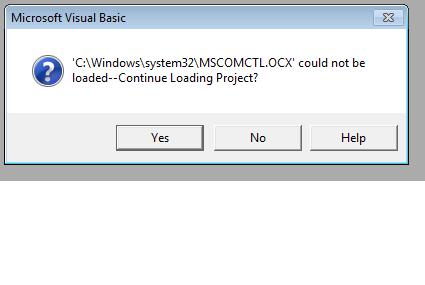 mscomctl ocx windows 7 32 bits