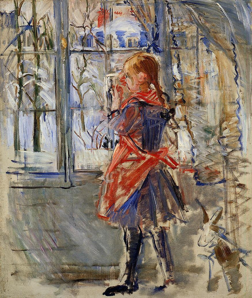 colourthysoul:  Berthe Morisot - Child with a Red Apron (1886)