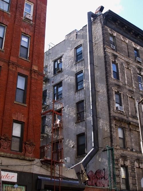 Kenmare Street buildings, NYC, Manhattan