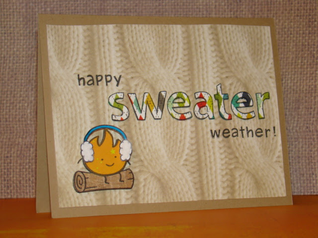 sweater weather card - ls