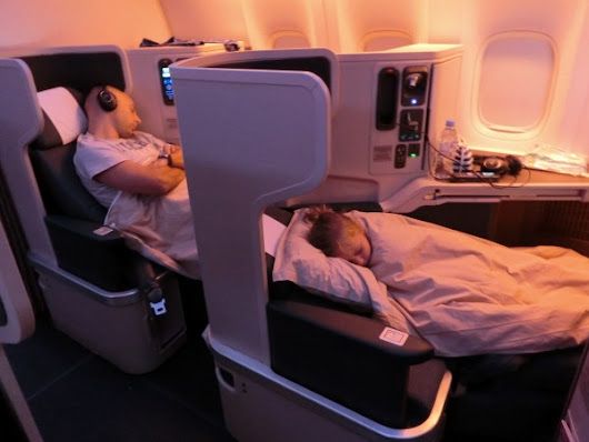 Flying Business Class With Kids - Cathay Pacific