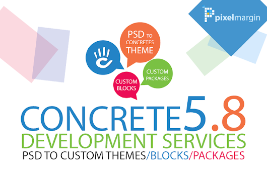 Concrete5 CMS development from psd or ai design for $200