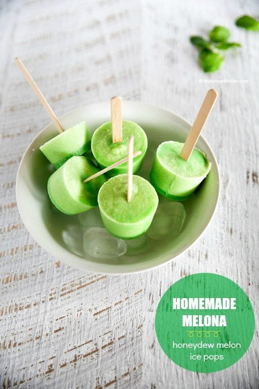 Homemade Melona Bar (Honeydew Melon Ice Pops) - My Korean Kitchen