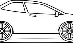 çok Hızlı Araba Boyama Sayfası
