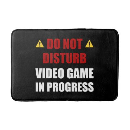 Do Not Disturb Video Game Bathroom Mat