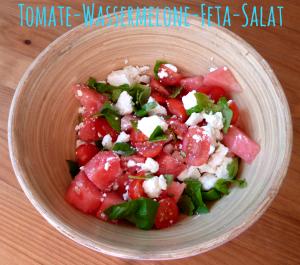 Tomate-Wassermelonen-Salat