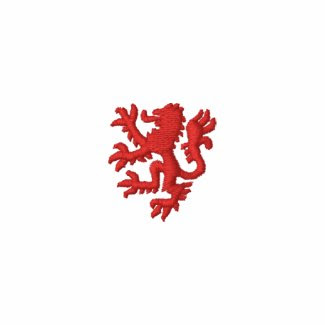 William Marshal Lion Embroidered Fleece Hoodie embroideredshirt