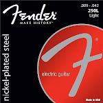 Fender 250L Nickel Plated Steel Electric Guitar Strings - Light