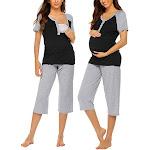 Black Maternity Pajama Sets