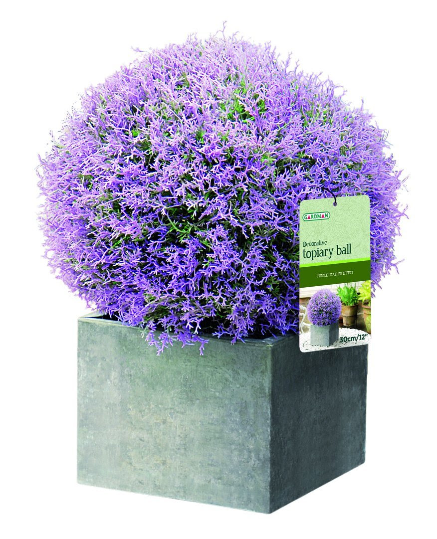 Purple Flower Topiary Ball 28cm  The Artificial Flowers Company